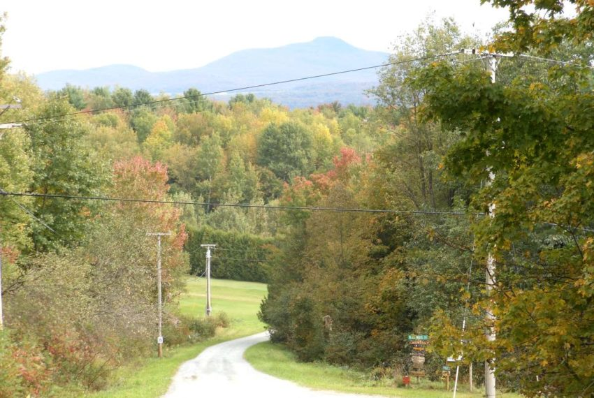 September looking down the road from Lot 57