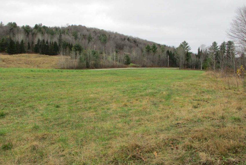 level field along West Hill Road