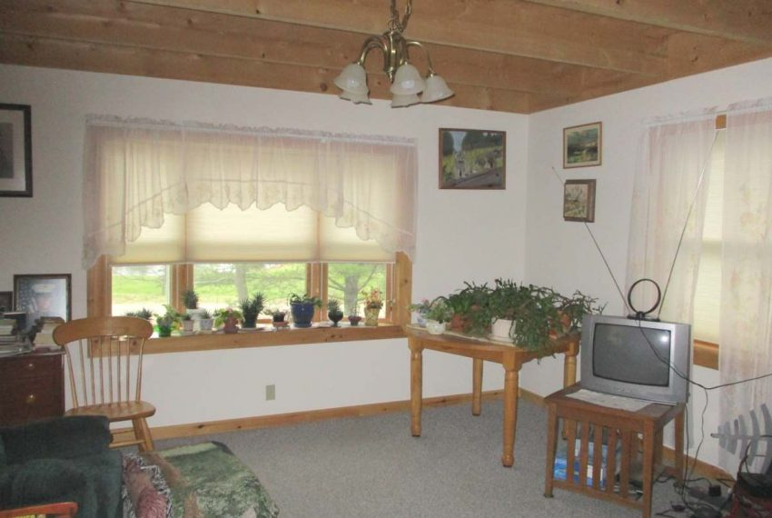 front of living room before pellet stove