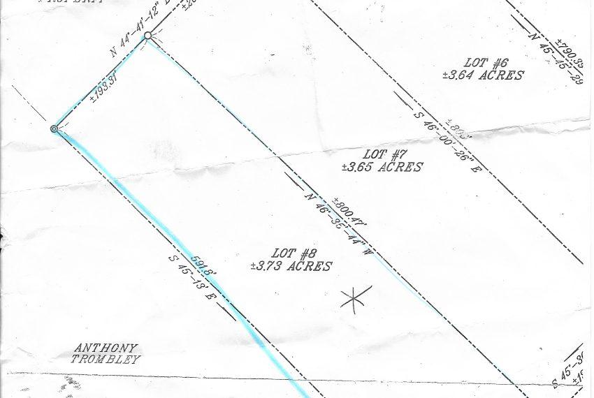 survey map for Lot 8