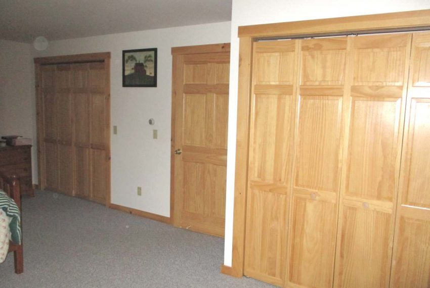 two closets in upstairs bedroom
