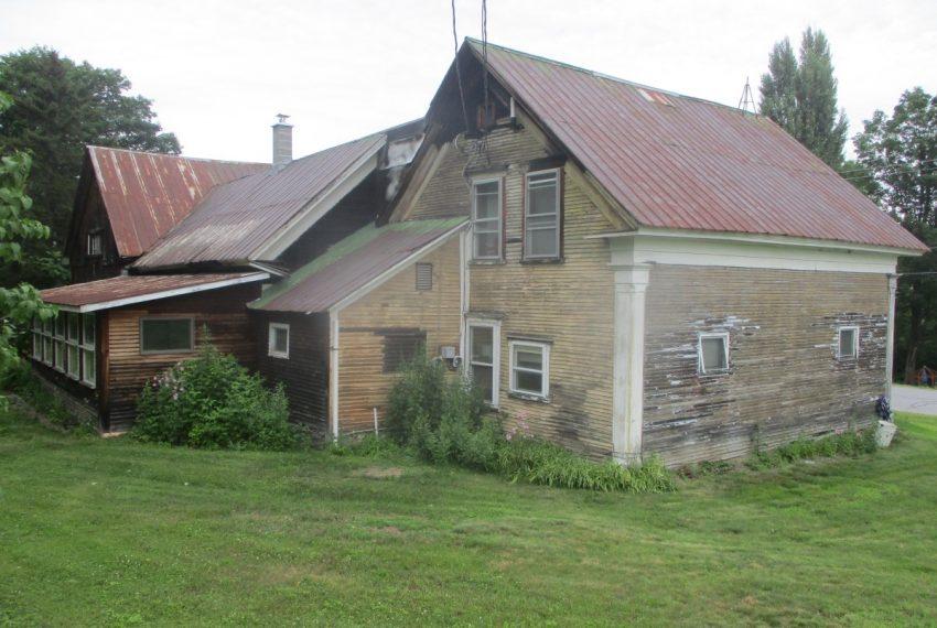 southeast house corner and back side